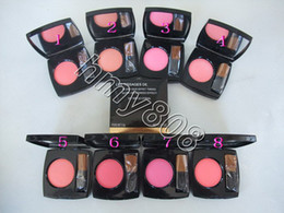 Wholesale Red Makeup Brushes - HOT NEW Makeup Blush 5.5g 8 color brush gift DHL SHIP