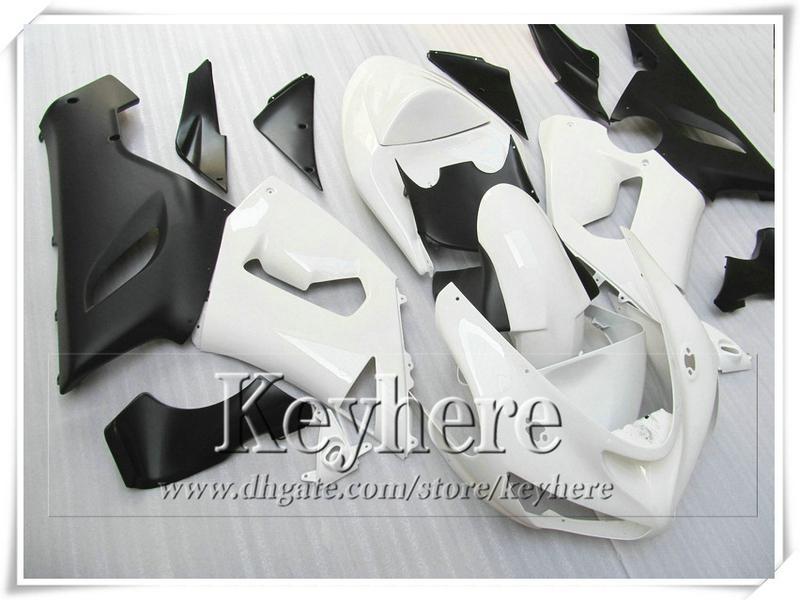 7 regalos! Kit de carrocería de carenado ABS para KAWASAKI ZX 6R Ninja ZX6R 2005 2006 piezas de motobike negro de plástico blanco ZX-6R 05 06 con 7 regalos gk55