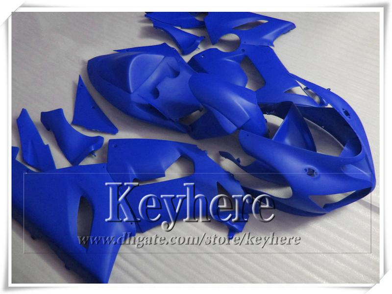 Low price ABS fairings kit for KAWASAKI 2005 2006 ZX 6R Ninja pure blue custom motorcycle body work ZX6R ZX-6R 05 06 with 7 gifts gk73