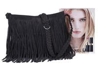 Strips Tassel Suede Knitted Lady Shoulder Bags Livraison gratuite + Marque Cheap + Designers Lady Shoulder Bags 4Colors Lady Bags 1PC / Lot 0806B3