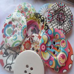 Wholesale Free Sewing Pattern - Free shp!50x big 50mm Vintage round 4holes Stripe design Pattern natural wood coat Buttons,Kids cartoon DIY sewing scrapbook Cardmaking