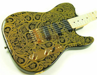 Wholesale Electric Guitar Natural Wood - New Arrival Custom Shop Guitar green T Maple Electric Guitar 6 Strings natural Wood Electric Guitar Price