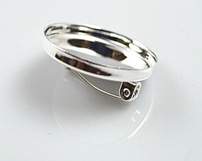 high quality sterling silver 25mm square blank lable pin, brooch pin, brooch settings