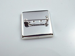 Free shipping,high quality sterling silver 25mm brooch pin, brooch settings