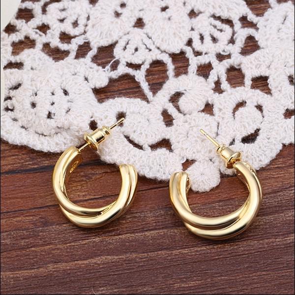 Hoge kwaliteit 18k vergulde oorbellen mode-sieraden voor vrouwen kerstcadeau gratis verzending /