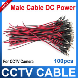 Wholesale 12v Security Cameras - DC power connector cable 12V monitor connector CCTV Security Camera Power Pigtail Male Cable