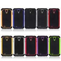 Heavy Duty Hybrid 2 en 1 cas d'armure Shock Proof Cover Case Housse de protection en silicone pour Samsung Galaxy S4 i9500