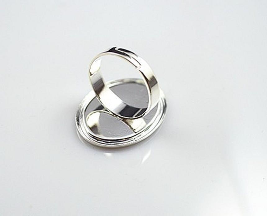 Gratis verzending! 18x25mm ovale ring blanco, zilver, hoge kwaliteit