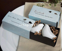 Discount discount-discount - Gift boxed love bird salt and pepper shaker set wedding favors and gift Free shipping one SET