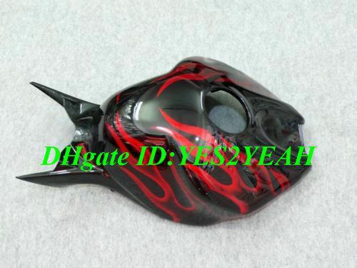Carrosserie injection pour HONDA CBR1000RR 04 05 Pièces de carénage CBR 1000RR CBR 1000 RR 2004 2005 Kit carénages flammes rouges noires + 7 cadeaux Hm45