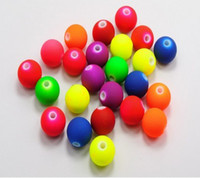 Wholesale Neon Fluorescent Beads - Wholesale! 8mm Fluorescent Neon DIY Acrylic Beads,matte spacer loose beads Jewelry Findings 500pcs Free Shipping