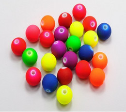 Wholesale Neon Loose Beads - Wholesale! 8mm Fluorescent Neon DIY Acrylic Beads,matte spacer loose beads Jewelry Findings 500pcs Free Shipping