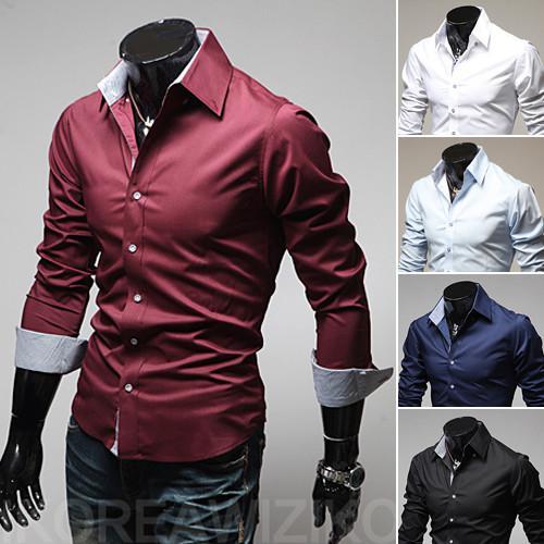 2017 Korean Shirt Men Collar Shirt Fitted Shirts For Men Shirt ...