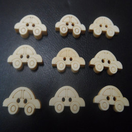 Wholesale Natural Wood Craft Buttons - 200pcs natural wood Cartoon car buttons scrapbook sewing appliques baby boys fave holiday crafts DIY toy