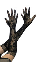 Wholesale Fashion Etiquette Gloves Sexy Beauty Long sleeved Gloves Jacquard Fishnet