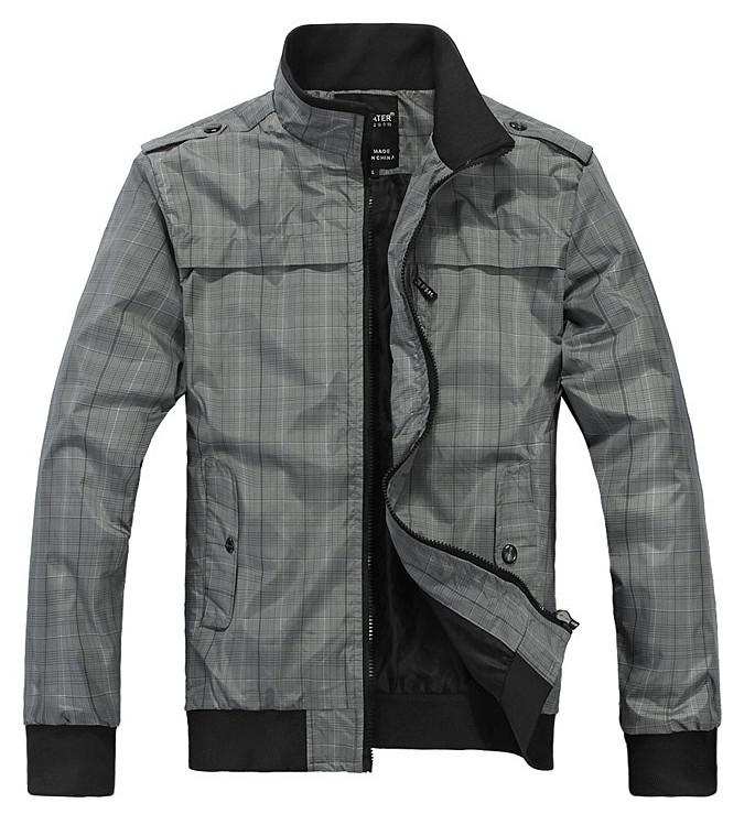 New Men's Spring Jackets Plus Cotton Leisure Slim Stand-Up Collar Men Jacket Outwear