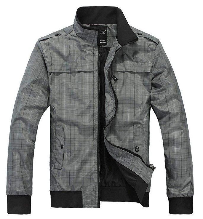 Новые мужские весенние куртки Плюс Тонкий хлопок Досуг стоячим воротником куртки мужские пиджаки
