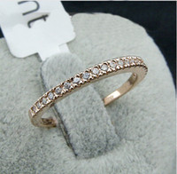 Wholesale Man Ring 18kgp - Swarovski crystal circlet ,men and women Band Ring ,best seller stamped 18KGP gold-plating rings,