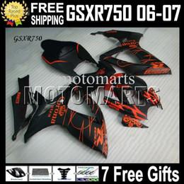 2019 99 ninja zx7r 7gifts+капот бесплатно пользовательские новый CORONA Fit SUZUKI GSXR750 06 07 GSX-R750 K6 оранжевый черный MS#1041 GSXR 750 GSXR-750 2006 2007 полный комплект обтекателя