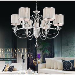 European Modern 28 6 Lights Living Room Chandeliers Restaurant Chain Pendant Lamp Dining Bar Counter Polished Chrome Light