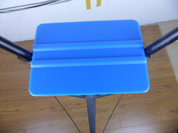 Wholesale 3m Vinyl Wholesale - 3M Plastic Blue color Car vinyl Film sticker wrapping tools flexible Scraper squeegee size 10.00 cm*7.00 cm Fedex Free shipping