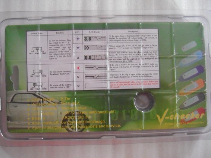 V-Checker Circuit Tester integreert, elektriciteitstestpotlood, automotive multimeter en oscilloscoop