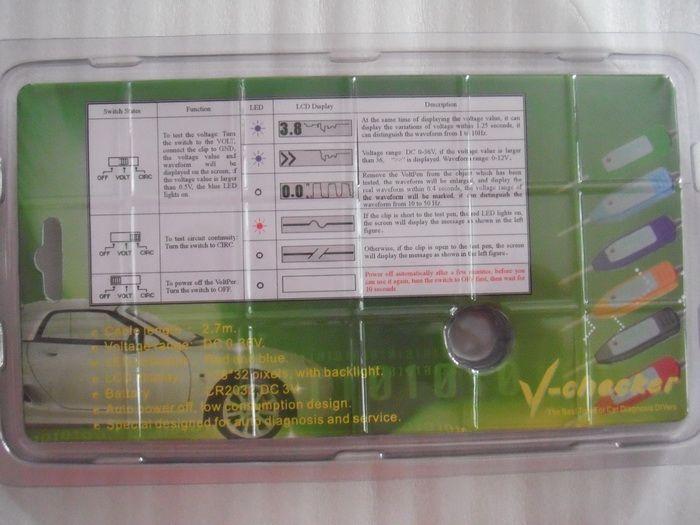 V-checker 회로 테스터, 전기 테스트 연필, 자동차 멀티 미터 및 오실로스코프 통합
