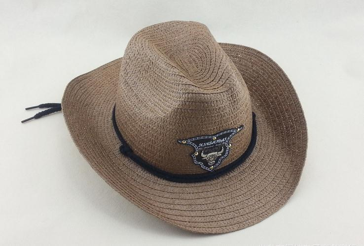 2017 strohoeden cowboy hoed vakantie dorp en toeristengebied Hot sales os hoofd