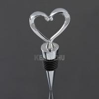 Wholesale Stainless Steel Heart Bottle Stoppers - Universal Stainless Steel Heart Wine Bottle Stopper Heart Core Shape Wine Stopper