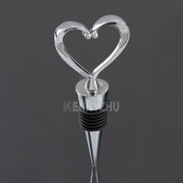 Wholesale Stainless Steel Heart Bottle Stoppers - Universal Stainless Steel Heart Wine Bottle Stopper Heart Core Shape Wine Stopper