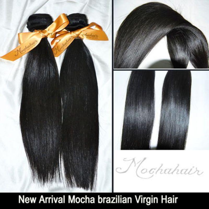 Mezclado / 200 g de pelo liso brasileño virginal, onda, 12