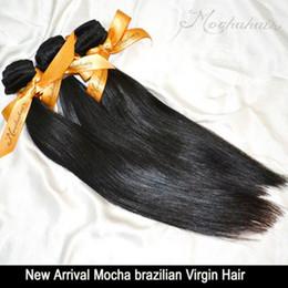 "Wholesale Brazilian Virgin 26 - 3pcs lot 300g Mocha Hair Virgin Hair,Brazilian Straight Hair Weft 12""14""16""18""20""22""24""26"" DHL Shipping No Shedding Tangle Free"