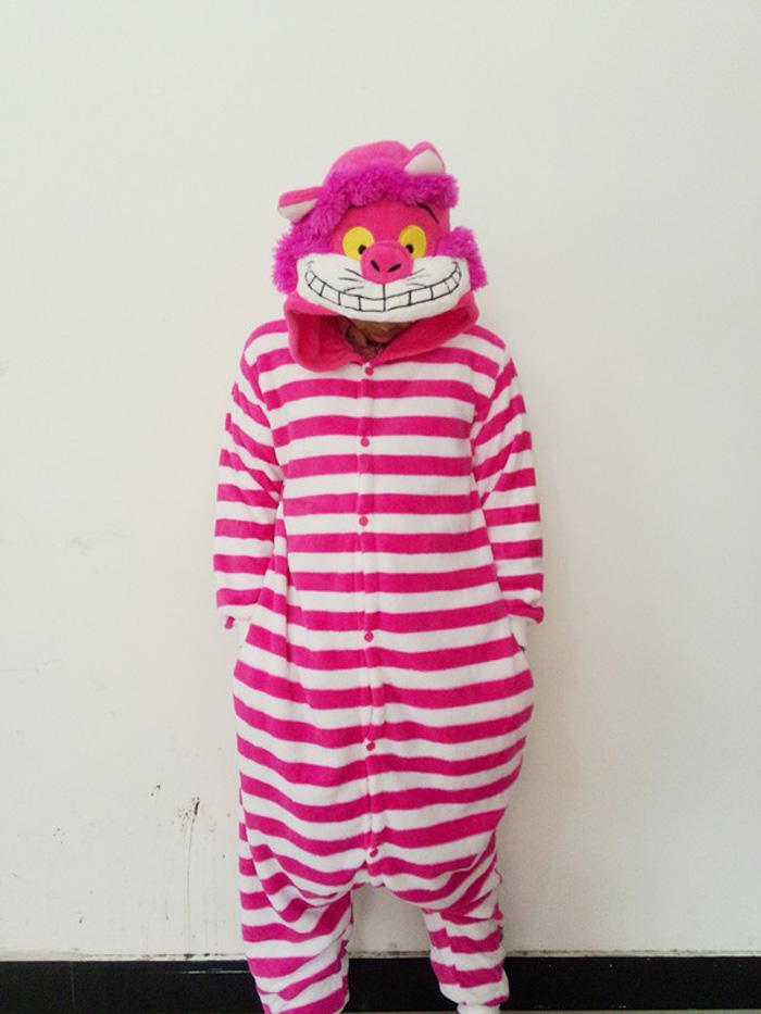 Cheshirecat Cosplay Trajes Animal Leopard Kigurumi Anime Pijamas Ropa de dormir
