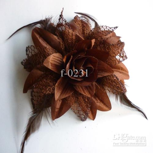 New Children's Hair Accessories Feather baby christmas big flower headwear clip baby girls Hair Clips HY1003