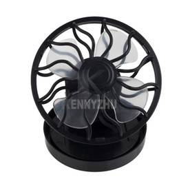 Wholesale Solar Powered Fan Hat Wholesale - Mini Portable Solar Energy Power Fan Clip-on Hat Fan Cap Cooling Fan Car Clip FaCurler Comb Mascara Brush Baffle Eyelash Card Tool