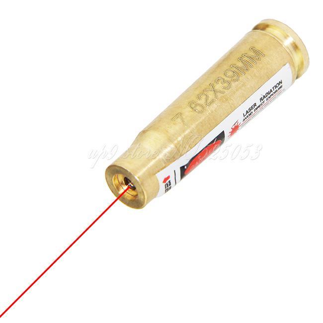 10 stks / partij Hoge kwaliteit Brass 7.62 x 39mm Caliber Cartridge Laser Boring Sift Messing Rode Laser Boresighter