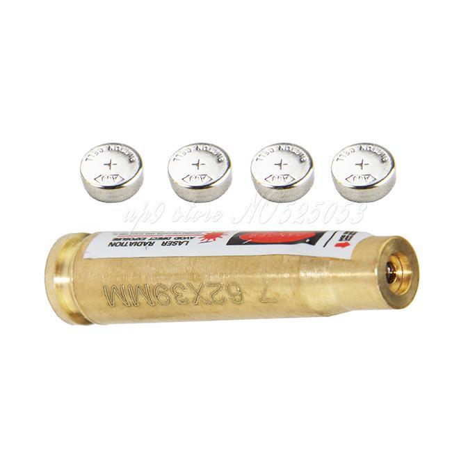 De alta calidad de latón de 7,62 x 39 mm Diámetro del laser del cartucho calibre Sighter latón Colimador láser rojo
