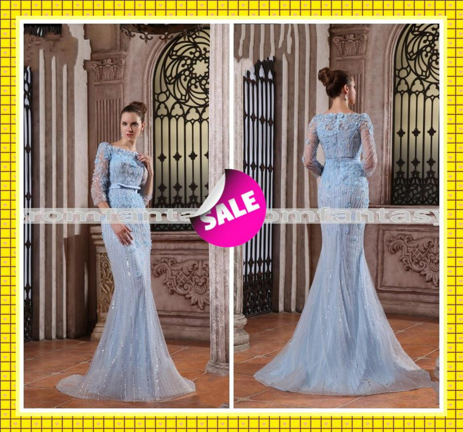Elie Saab Inspired Gossip Girl Blair'S Blue Wedding Dresses Sheer ...
