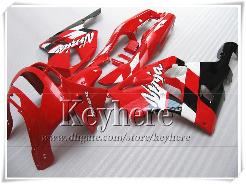 Kit carena in plastica ABS KAWASAKI Ninja ZX6R 1994-di lavoro corpo nero rosso di alta qualità ZX 6R 97 96 95 94 con 7 regali Rf12