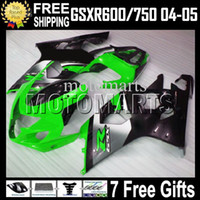 7gifts+ Cowl green black GSX- R750For SUZUKI K4 GSX- R600 04 05...