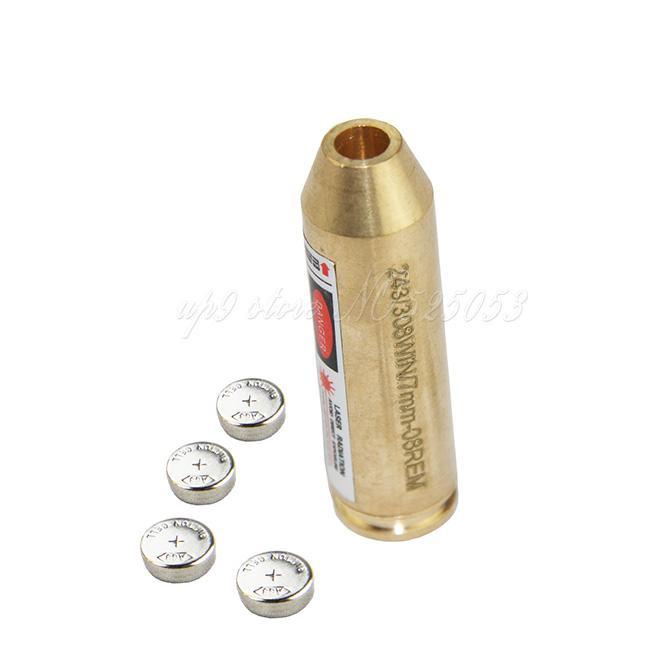 / Tactical Hunting Brass Cal :. 243 / .308WIN / 7mm-08Rem Caliber Cartridge Laser Boring Sift Red Laser Boresighter