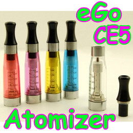 Wholesale Ego C Upgrades - eGo CE5 Atomizer No Wick Rebuildable upgrade Changeable Coil fit for eGo-t eGo-c eGo-w clearomizer Cartomizer E-cigarette 1.6ml Colorful