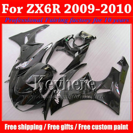 Wholesale Kawasaki Ninja Part - ABS high grade fairings kit for KAWASAKI Ninja 2009 2010 ZX6R ZX 6R 09 ZX-6R 10 custom glossy black motorcycle parts with 7 gifts fj14