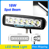 "Wholesale Spot Led Slim - 6"" Slim 18w 6X3W LED Work Light Spot Beam ATV 4X4 Off-Road Light Lamp, Wholesale IP67 Fog driving Bar 4WD truck Car Epsitar LED"