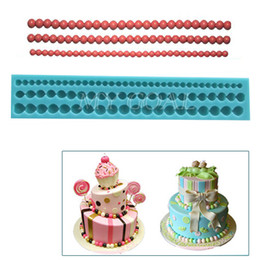 Wholesale Moulding Paste - 6 8 10mm Fondant Cake Bead Mold Sugarcraft Paste Decorating Baking Mould Tool