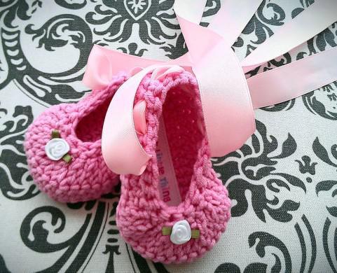 35% de descuento en modelos calientes! Flores hechas a mano de la cinta del ballet, zapatos recién hechos del ganchillo / zapatos baratos / desgaste del bebé / zapatos / zapatos del cabrito en línea /