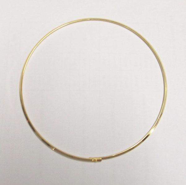 / Placcato oro girocollo collana cavo cavo regalo di gioielli artigianale fai da te 18 pollici W19