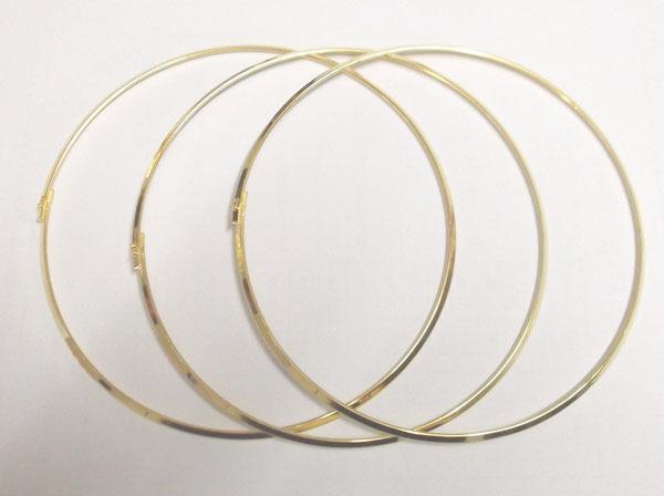 / oro chapado en oro collar de cordón alambre para el regalo de joyería de artesanía de bricolaje 18 pulgadas de 18 pulgadas