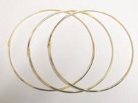 placas de artesanato venda por atacado-O Envio gratuito de 10 pçs / lote Banhado A Ouro Gargantilhas Colar Fio Cordão Para DIY Artesanato Presente Da Jóia de 18 polegadas W19