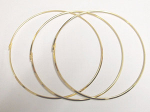 Free Shipping 10pcs lot Gold Plated Chokers Necklace Cord Wire For DIY Craft Jewelry Gift 18inch W19